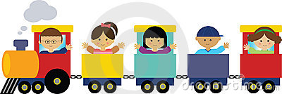 Children on Train