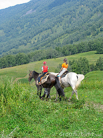 Free Children Traveling In Altay Mountains Royalty Free Stock Photo - 813455