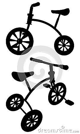 Children Tricycle Vector 01