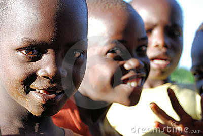 Children in Uganda Editorial Photography