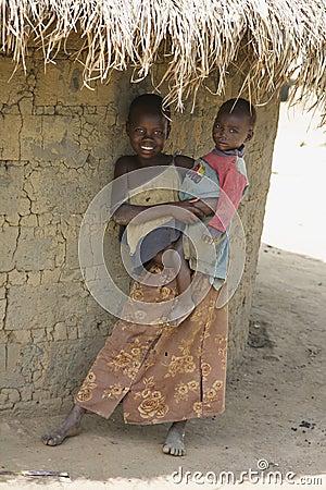 Children of Uganda Editorial Image