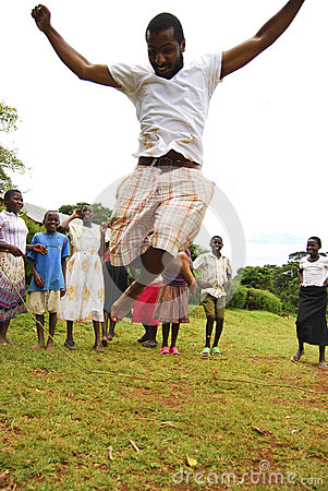 Children in Uganda Editorial Stock Photo