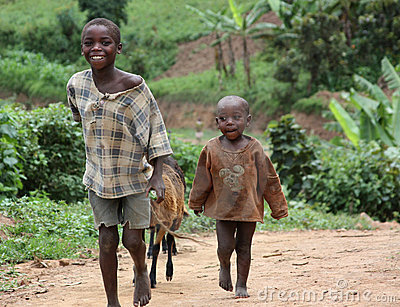 Children in Uganda, Africa Editorial Stock Photo