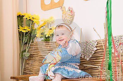 Children in Ukrainian national costume