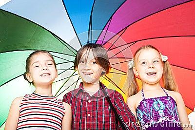 Children with umbrella