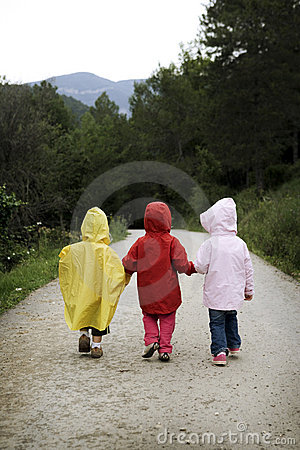 Children walking