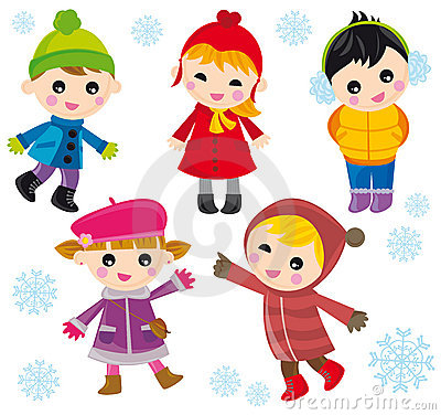 Children on winter