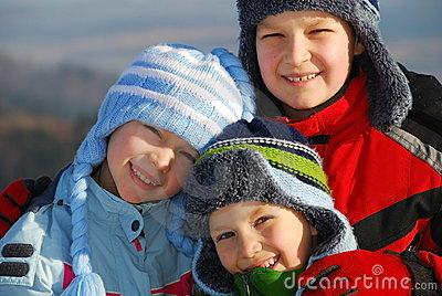 Children In Winter Clothes Stock Illustration - Image: 47249840