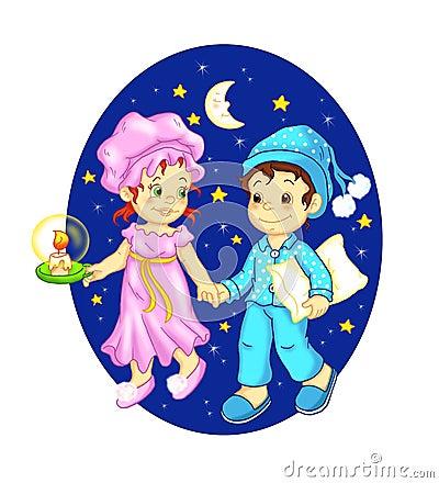 Children that wish Good night