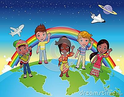 Children on the world.