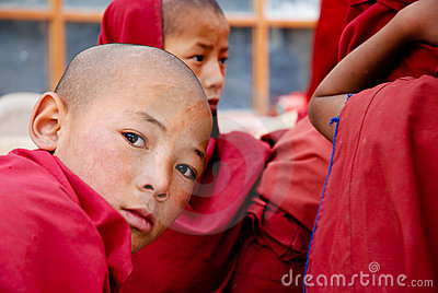 CHILDREN OF THE WORLD: Buddhist monk, Ladakh Editorial Image
