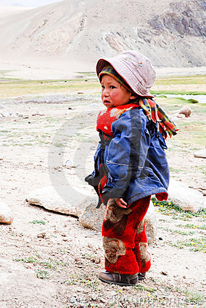 CHILDREN OF THE WORLD: Changpa Nomad, Ladakh  Editorial Stock Photo