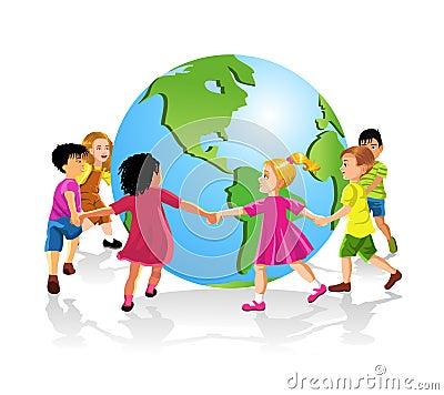 Children of the world holding hands