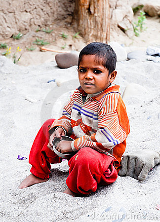 CHILDREN OF THE WORLD: Indian Child Editorial Image