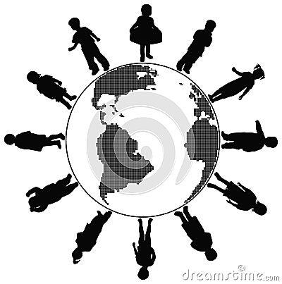 Children world, vector