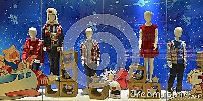 Childrens Clothing Shop Window, Children And Spaceflight ...