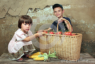 Childrens of the farmer.