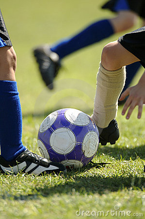 Free Childrens Football - Soccer Royalty Free Stock Photography - 958137