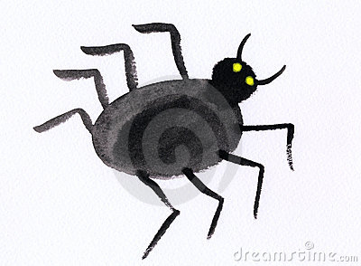 Childrens Painting - Spider - Artwork