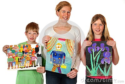 Childrens paintings