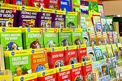 Childrens Play and Educational Books Editorial Stock Photo