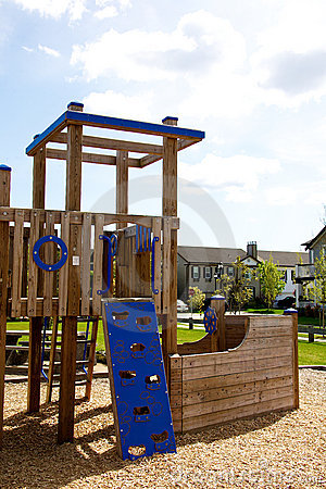 A childrens play structure