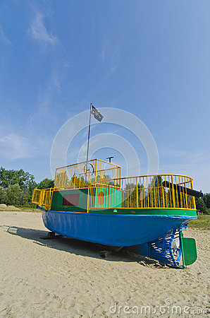 Childrens Playground Tugboat Pirate Ship