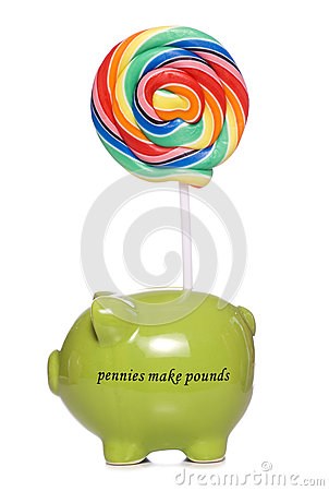 Childrens savings piggy bank