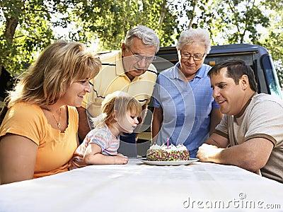 Childs birthday celebration.
