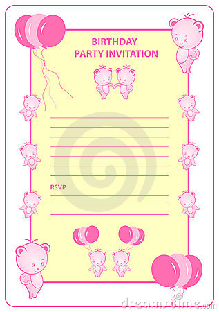Childs birthday party invitation