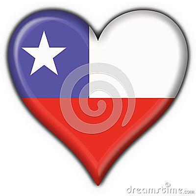 Chile button flag heart shape
