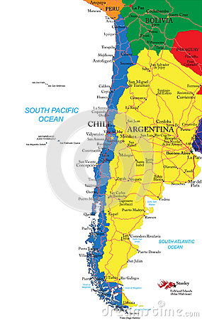 Free Chile Map Royalty Free Stock Image - 31897706
