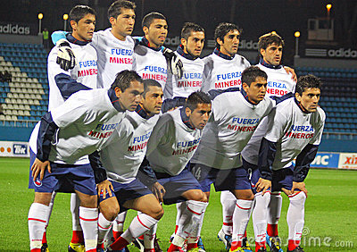 Chile national soccer team pose for a group photo Editorial Stock Photo