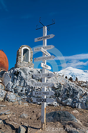 Chilean base Antarctica directions pole