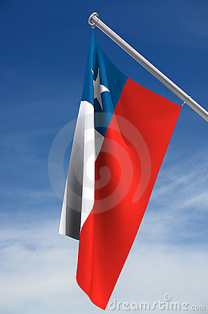 Chilean flag and clipping path