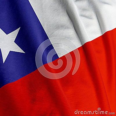 Chilean Flag Closeup