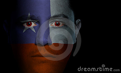 Chilean Flag - Male Face
