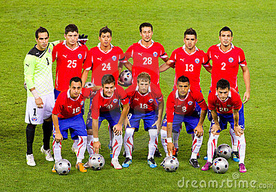 Chilean footballers Editorial Photography