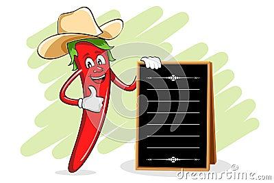 Chili Chef with Menu Board