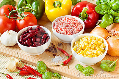 Chili con carne ingredients