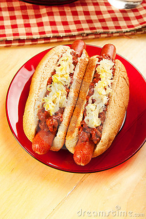 Chili Dog with Sauerkraut