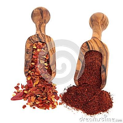 Chili Flakes and Powder