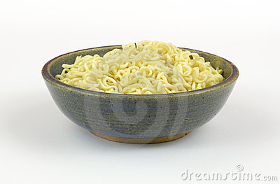 Chili flavored noodles in bowl