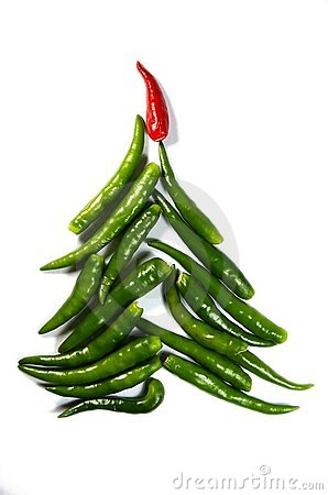 Free Chili New Year Tree Stock Image - 12019581