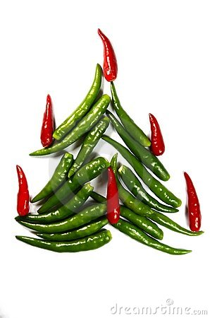Free Chili New Year Tree Royalty Free Stock Photo - 12019585
