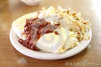 Chili omelet