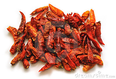 Chili Peppers isolated on White