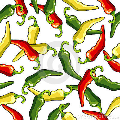Chili Peppers Seamless Pattern Stock Photos - Image: 10794123