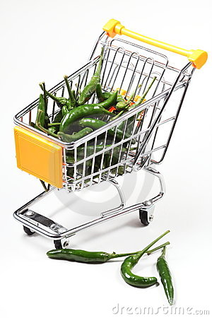 Chili in shopping cart