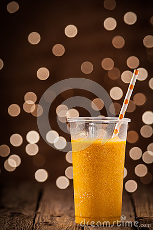 Chilled Tropical Orange Mango Smoothie Stock Photo - Image: 39389335